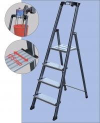 Лестница-стремянка 6 ступеней, анодированная, Премиум класс