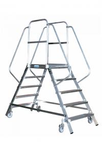 Лестница с платформой, передвижная, 2х6 ступеней