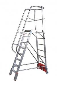 """Лестница с платформой """"Vario компакт"""", 10 ступеней"""