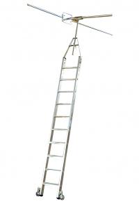 Лестница для двухрядных стеллажей со ступенями, 13 ступеней