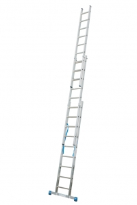 Лестница трехсекционная, выдвигаемая тросом 3х14