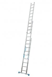 Лестница универсальная, трехсекционная Stabilo 3х9 ступеней