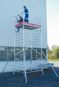 Передвижная вышка ProTec XXL, широкая конструкция. Рабочая высота -8.30 м