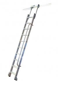 Лестница для стеллажей, 11 ступеней для Т-образной шины