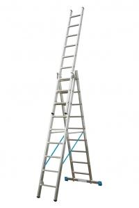 Лестница универсальная, трехсекционная Stabilo 3х8 ступеней