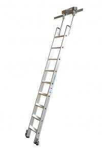 Драбина для стелажів, 8 сходинок для Т-подібної шини