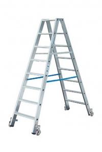 Лестница-стремянка 2х4 двустороння, передвижная