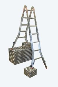 Шарнірна телескопічна драбина 4х4 Stabilo