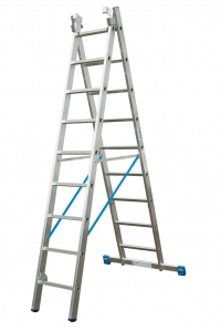 Универсальная лестница, двухсекционная 2х12 ступеней
