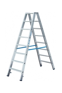 Лестница-стремянка 2х8 с перекладинами, двусторонняя