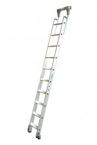 Драбина для стелажів, 13 сходинок для круглої шини