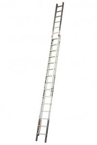 Лестница приставная, выдвигаемая тросом 2х15 ступеней