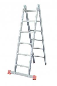 Шарнирная лестница 2х6 ступеней
