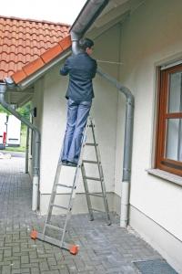 Шарнирная двухсекционная лестница 2x6
