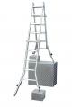 Шарнірна телескопічна драбина з 4 подовжувачами стійок 4х5