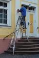 Шарнирная телескопическая лестница с 4 удлинителями стоек 4х5