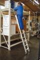 Лестница для стеллажей, 6 ступеней для Т-образной шины