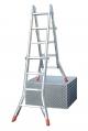 Шарнирная четырехсекционная телескопическая лестница 4х5