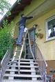 Шарнирная телескопическая лестница 4х4 Stabilo