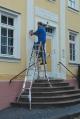 Шарнирная телескопическая лестница 4х5 Stabilo