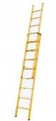 Выдвижная лестница из стекловолокна, 2х8 ступеней