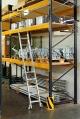 Драбина для дворядних стелажів зі сходами, 13 сходинок